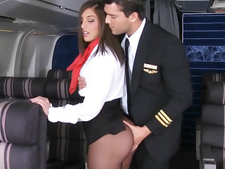 Pilot seduced scullion relating to fuck in airplane