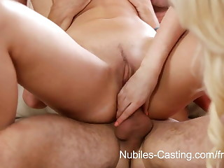 Nubiles Casting - 18 yr old cutie troubling to be a pornstar