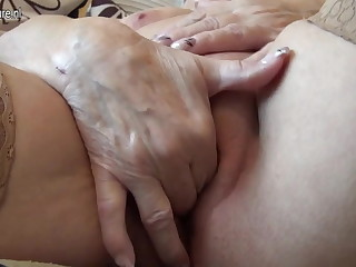 Very age-old German granny and her saggy tits