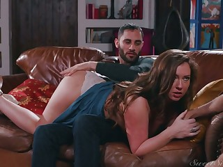 Sexy nympho Maddy Oreilly cheats on will not hear of BF by riding strong boner cock
