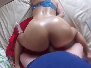 Skulduggery ASIAN WIFE, POV BIG BOOTY ,CUMMING & BOUNCING ON BIG MY WHITE COCK