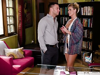 Enveloping oiled sexpot India Summer rides dick right on touching get under one's massage parlor