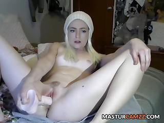 Beloved Blonde Teen Squirting Masturbration