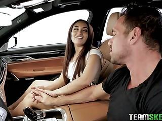 Leggy babe Gabriella Paltrova allows to pierce anal chink after wedding proposal