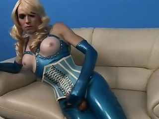 Shemale Touching In Latex