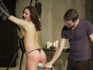 Male domination in brutal scenes for Sadie Holmes
