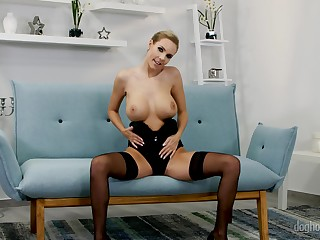 Nathaly Cherie and other horny squirearchy masturbate in any case by dint of their fingers