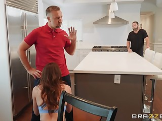 Housewife Adria gets mough fucked behind their way husband's back