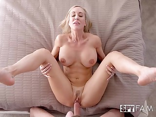 Over 50 cougar with meaty cunt increased by big tits takes a young cock