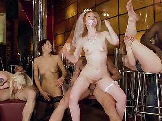 Bachelor party goes wild for the bride coupled with her friends