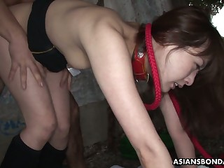 Sluttishly looking Asian widely applicable Sayo Hayakawa is fucked by team a few horny guys