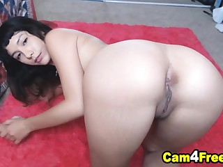 Cute Hot Brunette Pleased Herself By Masturbating