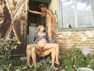 Hungarian skinny granny piss and fuck