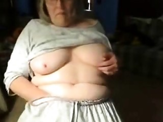 Venal granny has amusement on web cam. Amateur doyenne