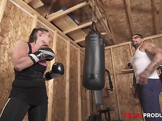 Busty sporty MILF babe Tanya gets a hardcore mad about in an obstacle matter of an obstacle gym