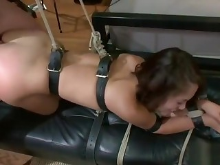 Lovely Kristina Rose having a real BDSM experience