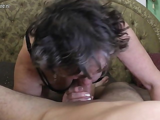 Dirty grandma gets fucked by say no to toyboy