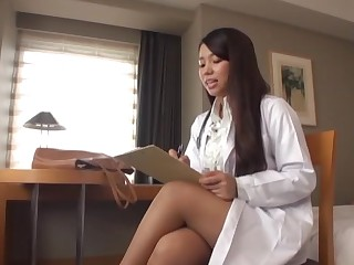 Young Japanese deals the cock in full POV modes
