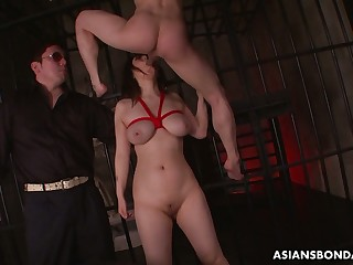 Busty alluring promised Japanese pro Kaoru Hirayama is made of good anal