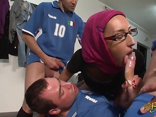 Arab Girl Wants An Autograph From Soccer Players
