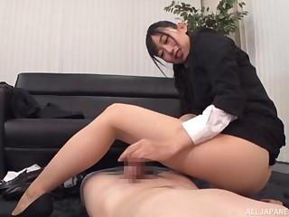 Clothed slot sex with naughty Kurokawa Sumire