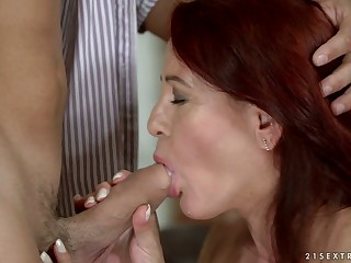 Dirty minded mature redhead Red Mary deserves some passionate be thrilled by