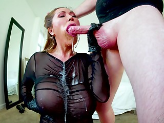 Gagged Asian mature swallows after a immoral think the world of