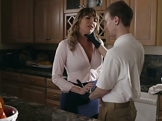 Alluring nicely shaped MILF Dana DeArmond  is gospeller of deepthroat BJ