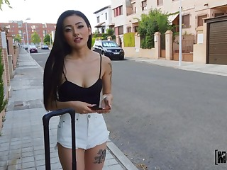 Asian Rae Lil Black adores fat and strong penis in her mouth and cunt