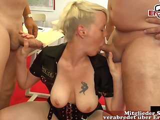 Hardore german creampie sexparty at hand hot milfs