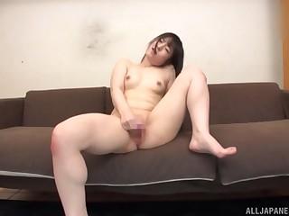 Awesome masturbating session forwards of eradicate affect camera with Momokou Kanon
