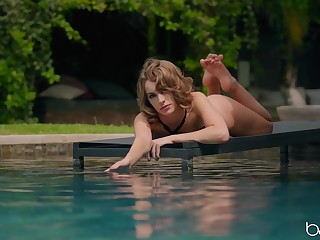 Sunbathing wife Kimmy Granger gets turned more than and seduces a pool cleaner
