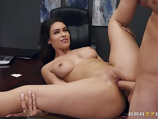 Strong sex at the office forth the sexy secretary