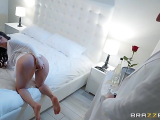 Stirling Cooper fucked Gabriela Lopez in the bathroom
