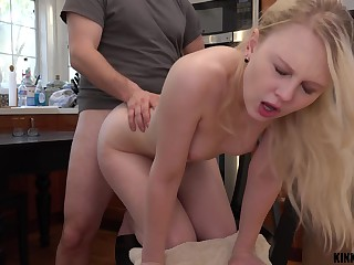 Inviting stepdaughter Lily Rader gets a mouthful be beneficial to cum after crazy sex in the kitchen