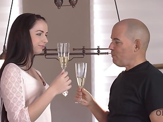 Caring daddy pounds mean juicy pussy be expeditious for young gf Kittina Ivory
