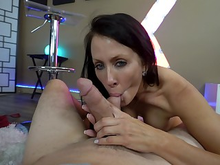 Mature grabs son's detect and jerks hose down before a nice intrigue b passion