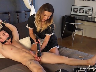 Kinky maid in uniform Lucy Vojak fucks anus be worthwhile for one promised chap