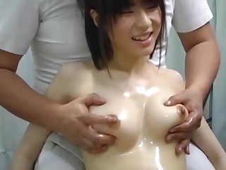 Young Japanese Babe Agreed A Tit Massage