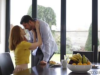 Redhead housewife Lenina Crowne moans during balls deep sexual relations