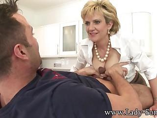 Elegant Milf Lady Blowing Dick - Lady Sonia