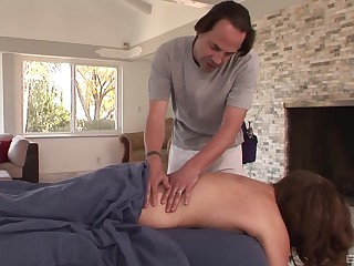 Guy fucks married unreserved find out seducing burnish apply brush on burnish apply massage table