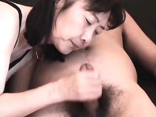 Chie loves sucking cock, 50's matured cram teacher