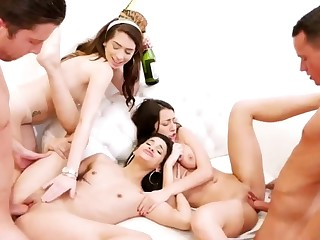 Teen heeding boss orgasm hd Advanced Era Eve Party