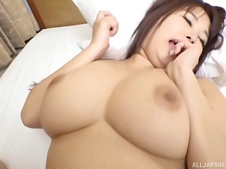 Gentle pussy fucking with a long dick for a busty Japanese babe