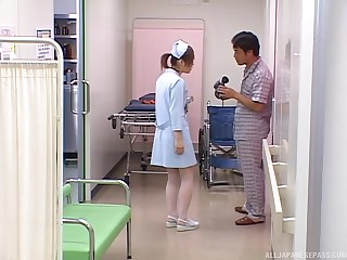 Asian nurse gets the dick in a pretty kinky scene