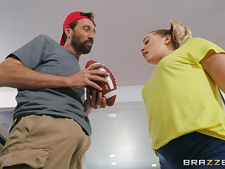 Bearded man floods step daughter's cunt after fucking her in crazy modes