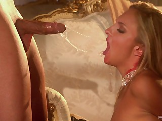 Small tits blondie Lexi Love sucks a dick and takes it from burdening someone