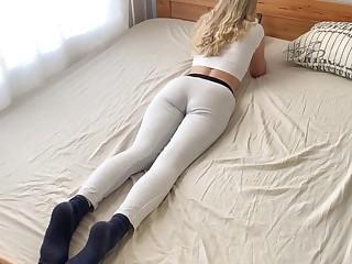 Blonde Fucks in Anal plus Gets Hot Cum