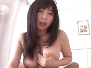 Amateur hairy Asian chick fucks far passion